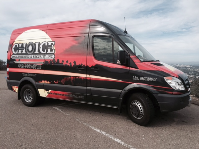 Choice Locksmithing Mobile Locksmith provides service to your location with out fully equipped van